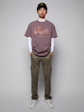 Classic Bear Motif T-shirt, Grape Purple