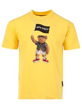 Pirate bear logo t-shirt, yellow