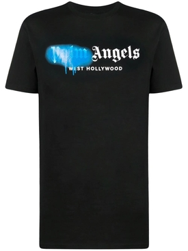 West Hollywood sprayed tee, black