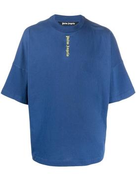 Vertical Logo Oversize T-Shirt, Blue