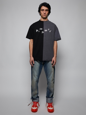 Broken Logo T-Shirt, Black & Grey