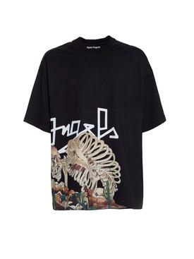 Desert skull bones short sleeve t-shirt BLACK