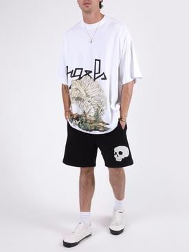 Desert skull bones short sleeve t-shirt WHITE