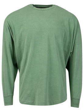OVERSIZED CLASSIC LOGO LONG-SLEEVE TEE FOREST GREEN