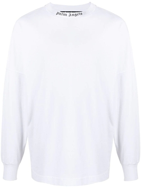 Logo Print Long Sleeve T-Shirt White/Black