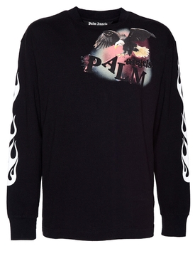 Black Flame eagle long sleeve t-shirt