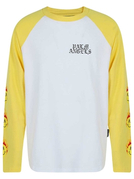 Burning Head Baseball Long Sleeve T-Shirt