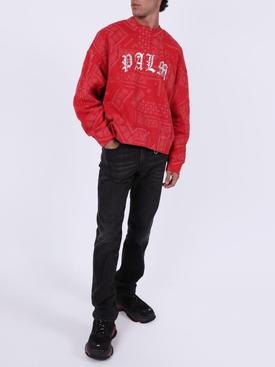 Red Bandana Print Sweatshirt