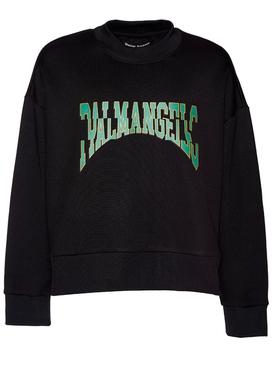 Broken logo sweatshirt Black