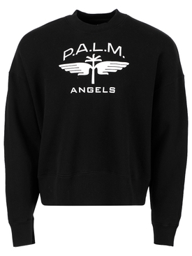 Military wings crewneck sweatshirt, black