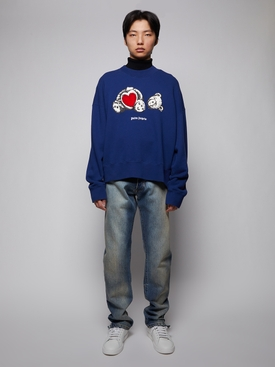 Bear in love crewneck sweatshirt, navy