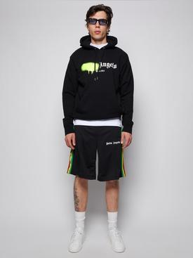 Malibu sprayed hoodie, black