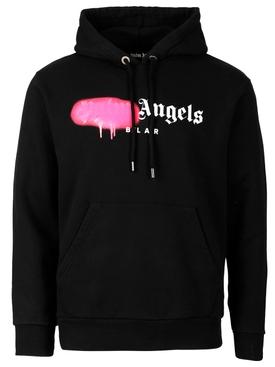 Bel air sprayed hoodie black and fuchsia
