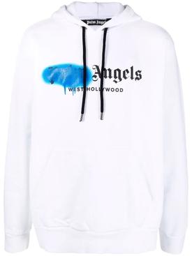 West Hollywood sprayed hoodie, white