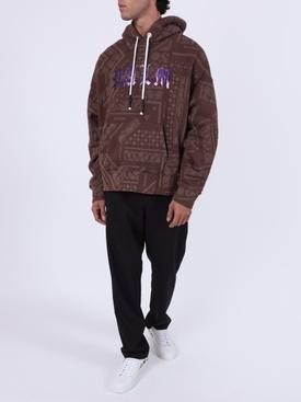 Brown Bandana Print Hoodie