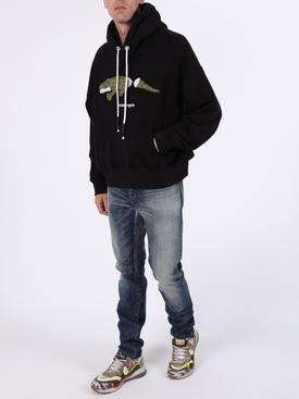 Croco hoodie black