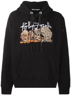 Desert skull bones hoodie jumper