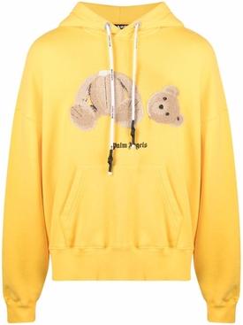 Teddy bear hoodie, yellow