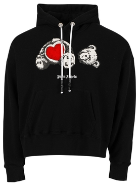 Bear in love hoodie, black