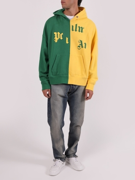 x NBA Broken Logo Hoodie YELLOW GREEN