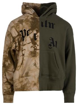 Broken logo military hoodie