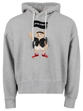 Pirate bear hoodie, mélange grey