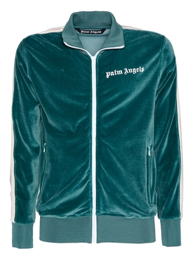 Green chenille track jacket