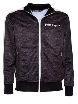 Dark brown croco track jacket