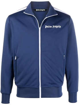 Classic Chest Logo Print Track Jacket Navy Blue