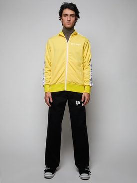 Classic Chest Logo Print Track Jacket Yellow White