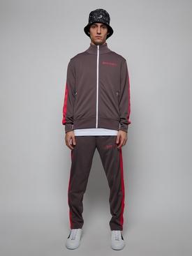 Classic College Track Jacket DARK GREY & MAGENTA