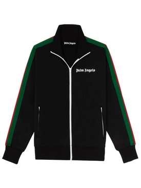 Classic College Track Jacket BLACK WHITE