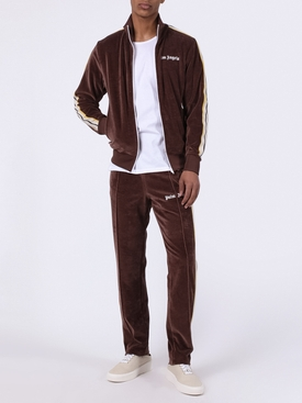Side stripe logo track jacket BROWN