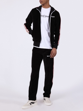 Side stripe logo track jacket BLACK
