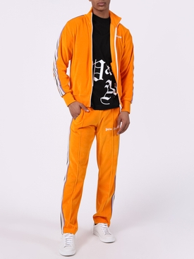 Side stripe logo track jacket ORANGE