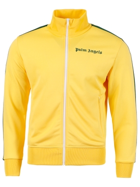 CLASSIC STRIPED-SLEEVE TRACK JACKET, YELLOW AND GREEN