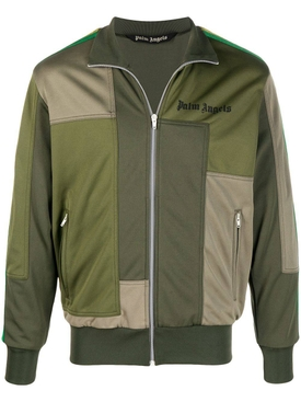 Classic Patchwork Track Jacket, Military Green