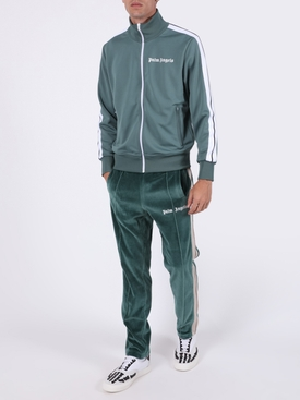 Chenille logo track pants
