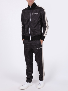 Dark Brown Croco Track Pants