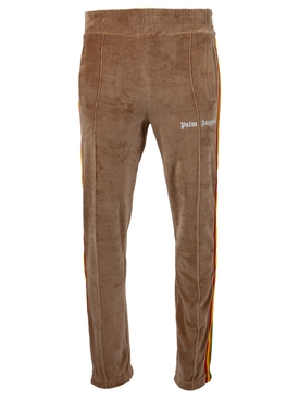 RAINBOW CHENILLE TRACK PANT BROWN