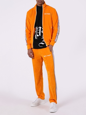 chenille side stripe track pants ORANGE