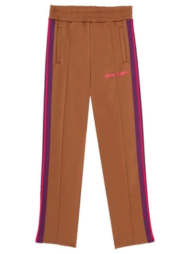 College slim track pants Brown/Magenta