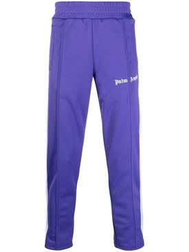 Classic slim track pants Purple White