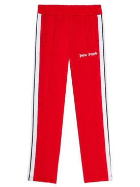 Classic slim track pants Red White
