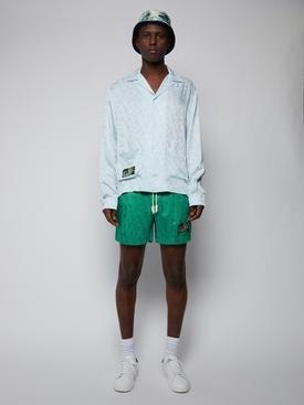Tonal monogram track shorts