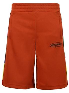 X Missoni Track Shorts BRICK RED