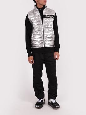 Silver Metallic puffer vest