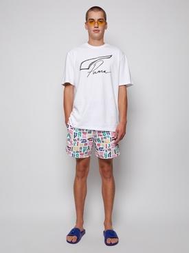 X Vilebrequin White Monogram Swim Shorts