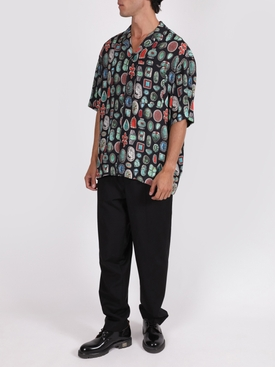 Jewels print bowling shirt BLACK/MULTICOLOR