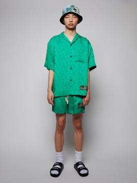green Monogram bowling shirt